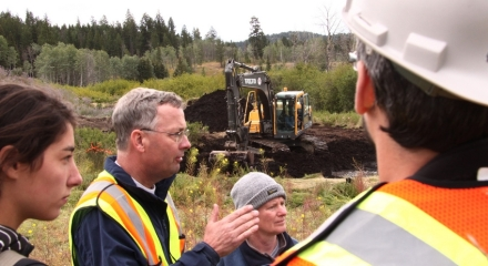 Tom Biebighauser at a recent wetland restoration project in Logan Lake BC