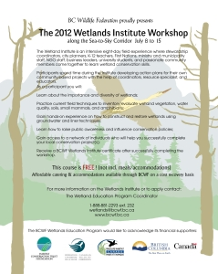 Sea-to-sky Wetlands Institute Poster 2012