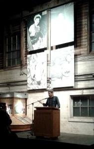 Jay Ritchlin, Director for David Suzuki West Coast, giving a welcome speech.
