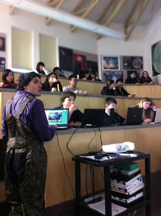 Jason teaching at Shawnigan Lake