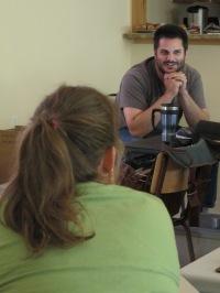 Ryan Durand giving a presentation on SEI. Photo by Jason Jobin.