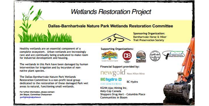 Dallas-Barnhartvale Nature Park Wetlands Restoration Project