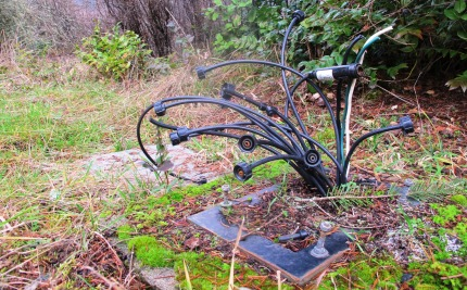 Bouquet of wires speak to the history of the site.