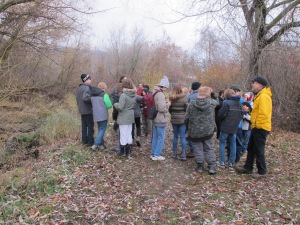 Students learn how to master using a handheld gps