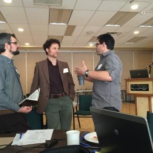 Neil Fletcher (BCWF Wetland Education Program), Todd Carnahan (Habitat Acquisition Trust), Dan Buffett (Ducks Unlimted)
