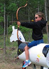 Camper takes aim