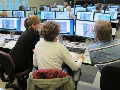 Castlegar Q GIS - Students building their first map