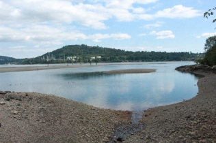 The remains of the dredged mudflat