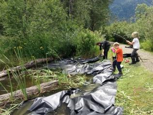 The pond liner method
